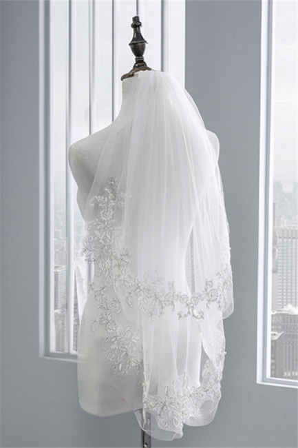 Veil with lace | Bridal veil short