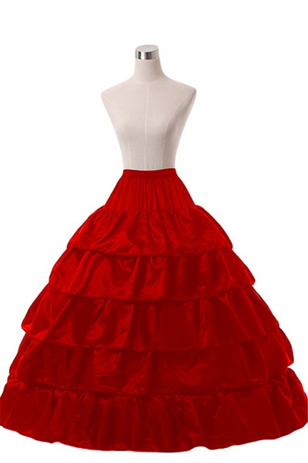 Crinoline under wedding dress | Underskirt red