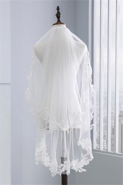 Brautschleier mit Spitze | Schleier Braut Kurz