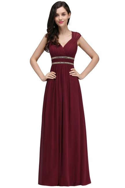Elegante Brautjungfernkleider Lang | Weinrotes Kleid Für Brautjungfern