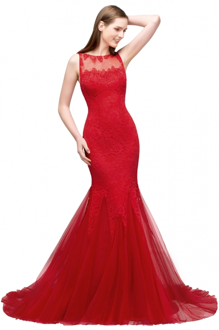 Red evening dresses long | Lace prom dresses cheap