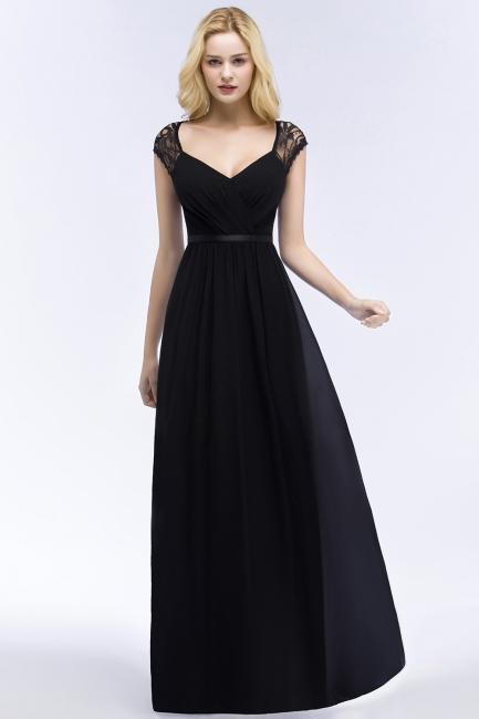 Abendkleid Lang Schwarz | Schlichte Abendkleider