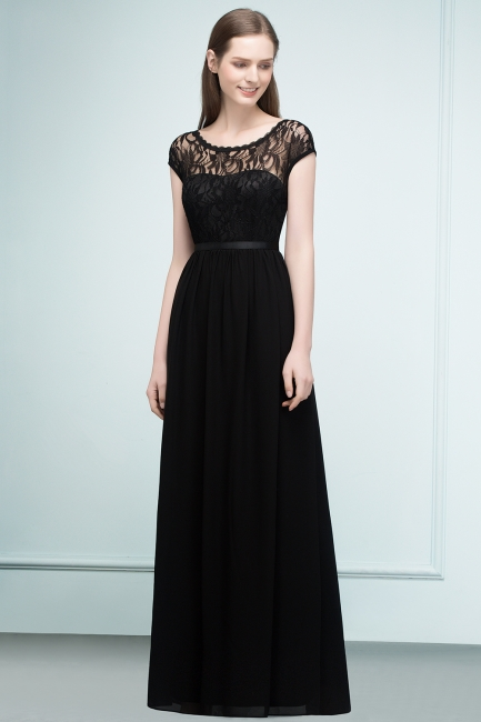 Elegant Evening Dresses Long Black | Festive dresses