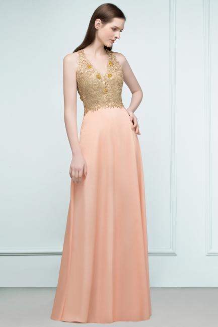 Günstige Abendkleider Lang V Ausschnitt | Abendkleid mit Spitze