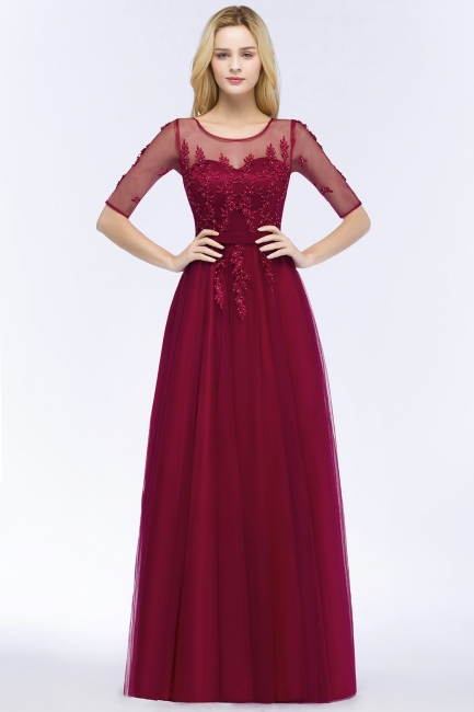 Evening dresses with sleeves | Prom dresses long cheap