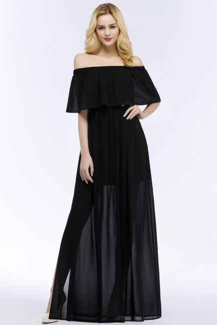 Evening dress long black | Evening wear online