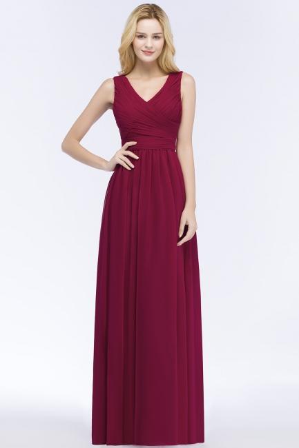 Red Evening Dress Long V Neck | Evening wear online