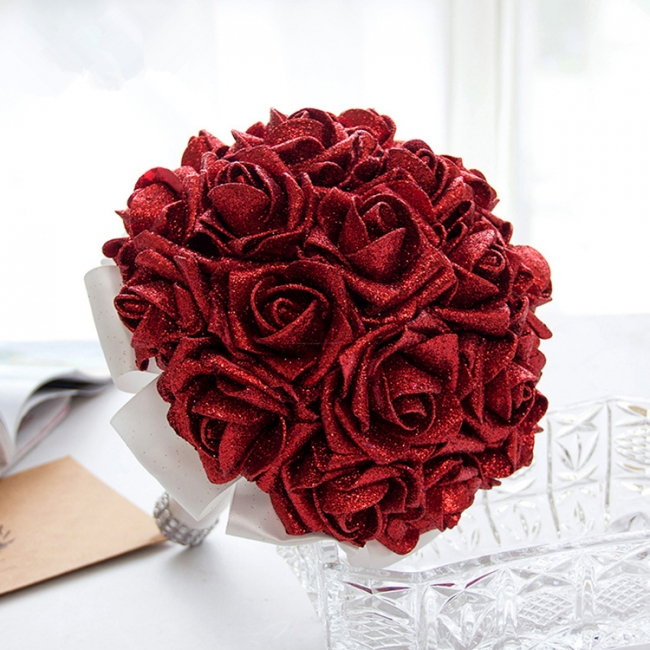 Bridal bouquet registry office wine red | Wedding bouquet