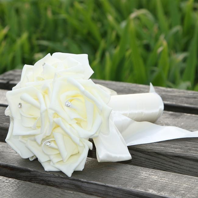 Bridal bouquet red white | Wedding bouquet vintage