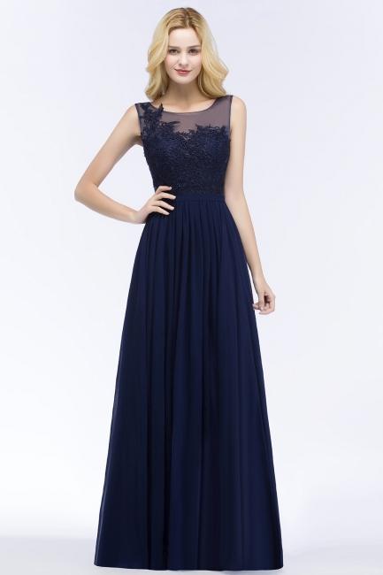 Elegante Brautjungfernkleider Mit Spitze | Brautjungfernkleid Navy Blau