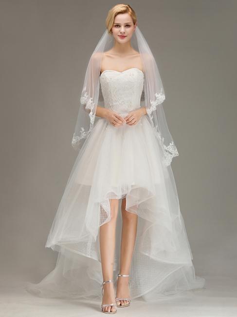 Schleier Ivory 2 Schicht | Brautschleier Günstig Online