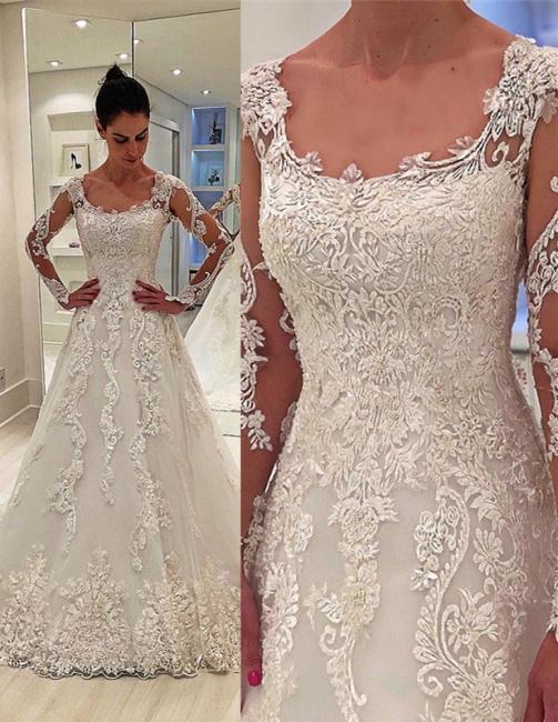 Fashion lace wedding dress | Wedding dress A line
