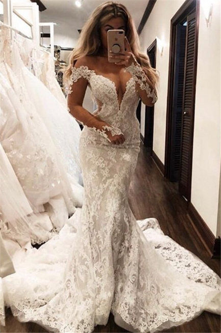 Designer Wedding Dresses Mermaid Simple | Wedding dress lace cheap