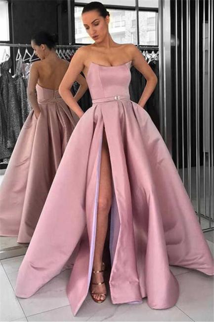 Schöne Lange Abendkleider | Abendkleid Lang Rosa Günstig