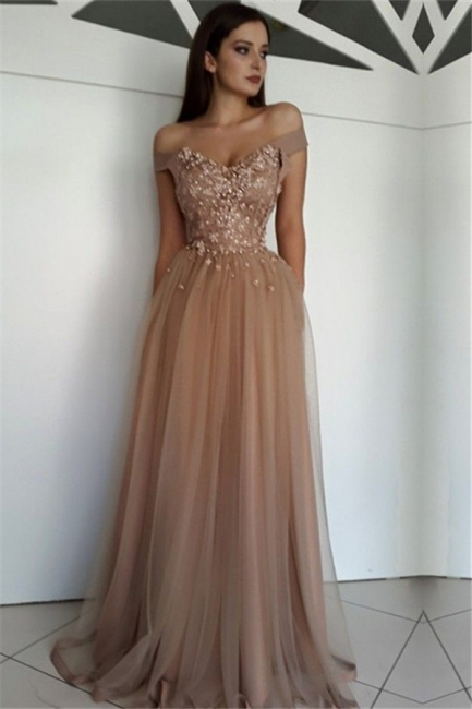 Champagne Evening Dresses Long Cheap | Buy evening wear floor-length online