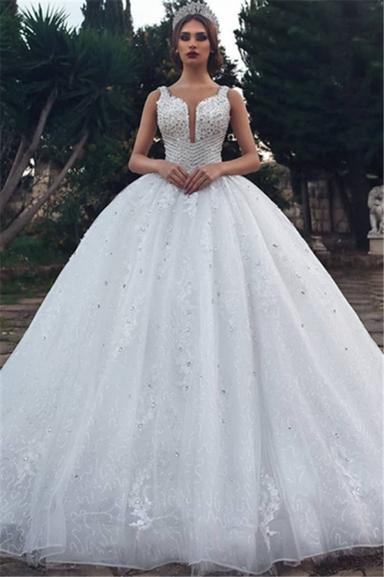 Modern wedding dress A line | White Wedding Dress Cheap Online