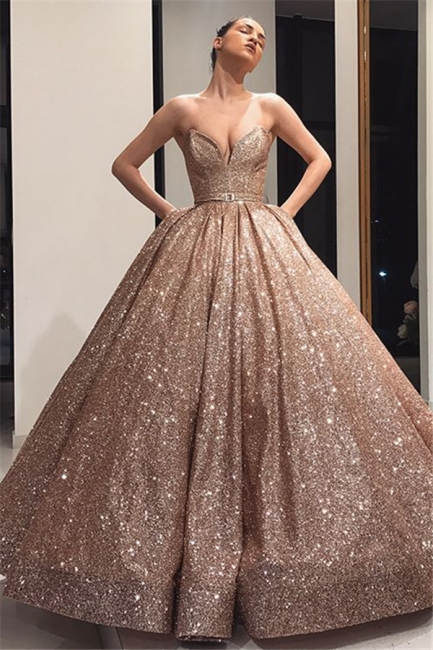 Long evening dresses with glitter | Prom dresses cheap