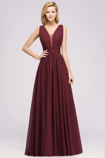 Burgundy Bridesmaid Dresses Long   Wedding party dresses cheap