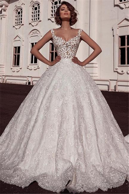 Designer Brautkleider A Line | Hochzeitskleid Aus Spitze