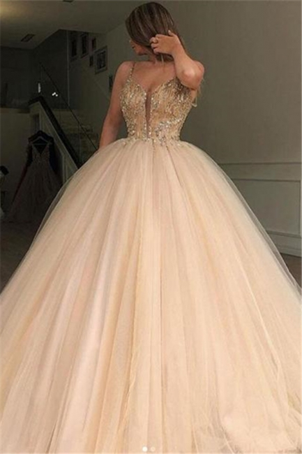 Elegante Abendkleider Lang Günstig | Prinzessin Abiballkleider Online