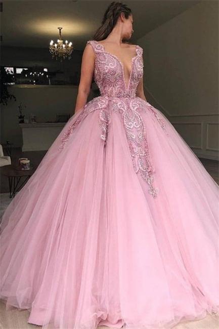 Elegant evening dresses long pink | Buy cheap prom dresses