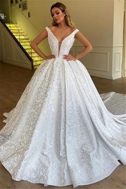 Sexy Brautkleider A Linie | Hochzeitskleid Aus Spitze