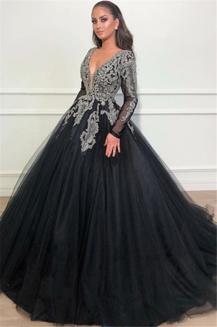 Cheap Evening Dresses Long With Sleeves   Buy evening wear black online
