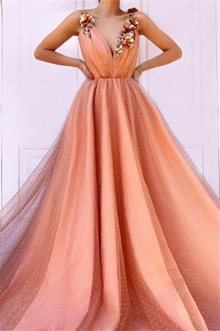 Designer Abendkleider lang V Ausschnitt | Abiballkleider Online