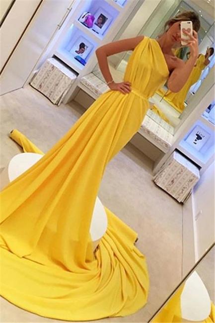 Elegante Abendkleider Lang Chiffon | Etuikleider Günstig Online