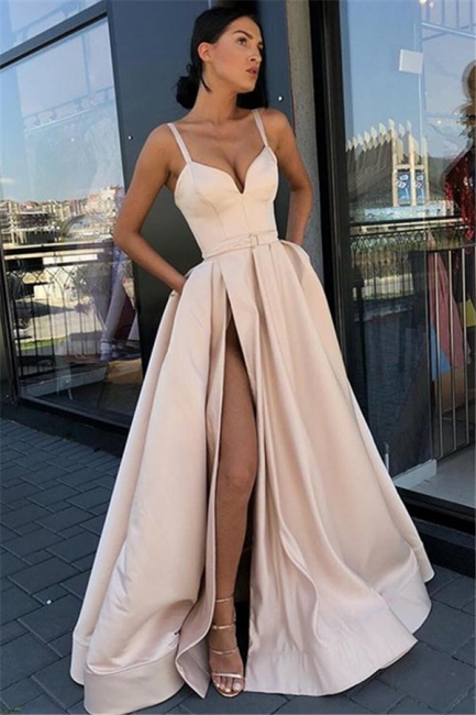 Elegante Abendkleider Lang Günstig | Schlichtes Abendkleid Online