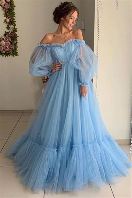 Fashion evening dresses long pink | Blue evening dress online