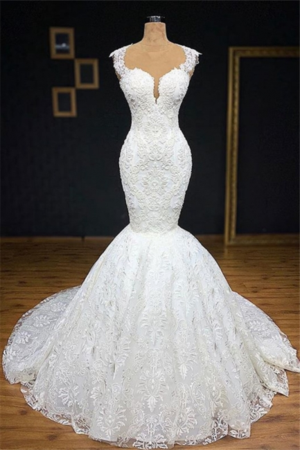 Exclusive wedding dresses with lace | Mermaid wedding dress online