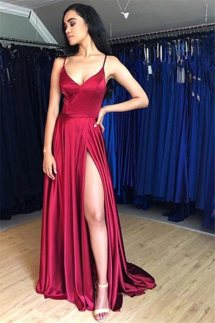 Plain prom dresses long cheap | Buy evening dresses red online