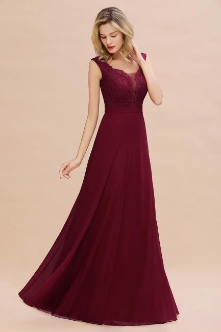 Simple bridesmaid dress wine red   Long bridesmaid dresses cheap