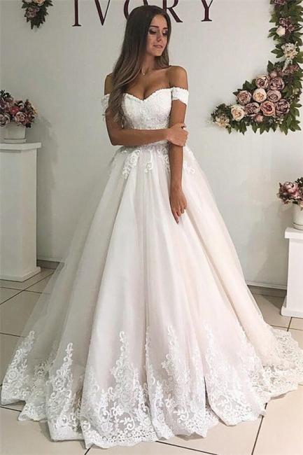 Elegant wedding dresses A line | Wedding dresses with lace online