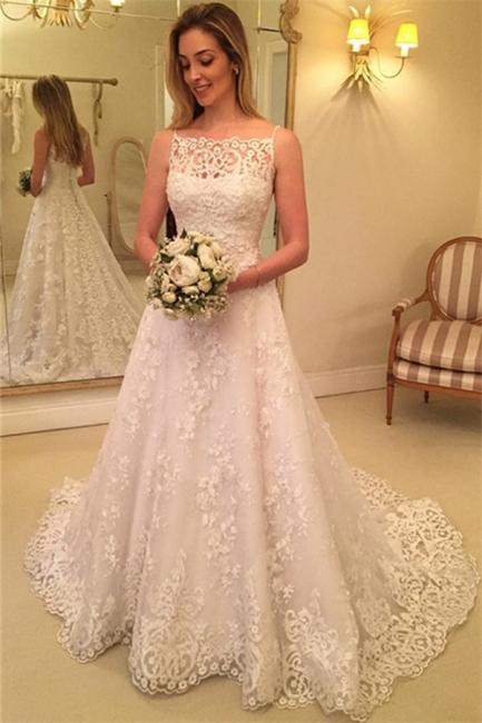 Schlichte Brautkleider A Linie Günstige Hochzeitskleider Mit Spitze