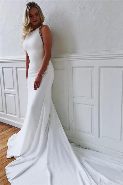 Modern wedding dress white mermaid | Wedding dresses with train