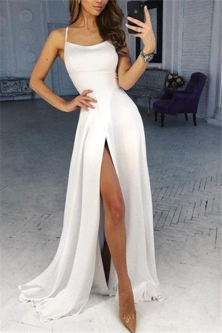 Simple evening dresses long white | Buy evening wear online