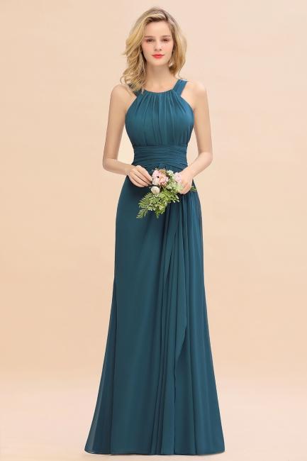 Brautjungfernkleider Lang Grün   Schlichtes Abendkleid Hochzeitspartykleider