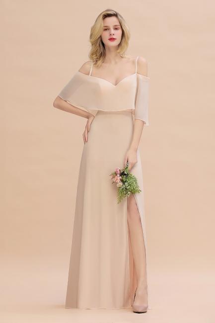 Champagne Brautjungfernkleider Lang Günstig | Kleider Für Brautjungfern