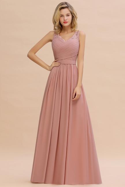 Schlichtes Abendkleid Altrosa | Abendkleider Lang Günstig