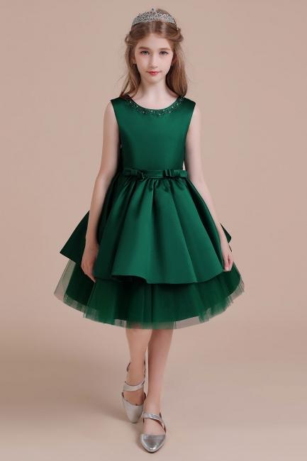 Mädchen Blumenmädchen Kleid Grün | Blumenmädchenkleider für Kinder