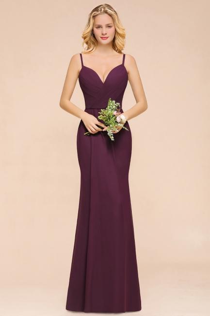 Purpur Brautjungfernkleider Lang Günstig   Schlihctes Abendkleid
