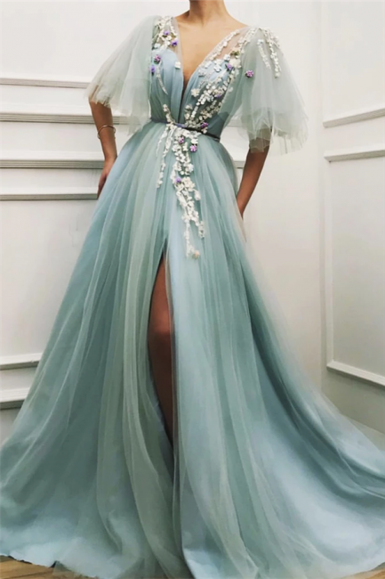 Elegante Abendkleider Lang Grün   Abiballkleider Günstig