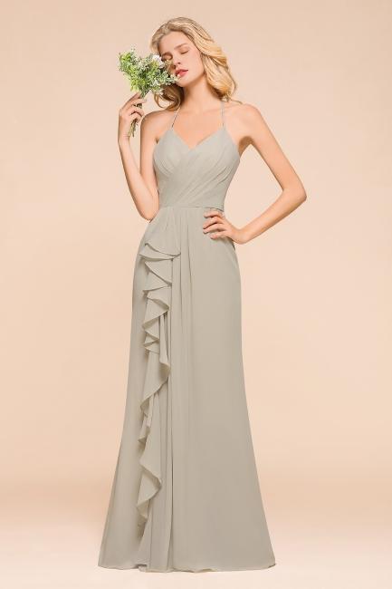 Elegante Brautjungfernkleider Lang Günstig | Schlichtes Hochzeitspartykleid