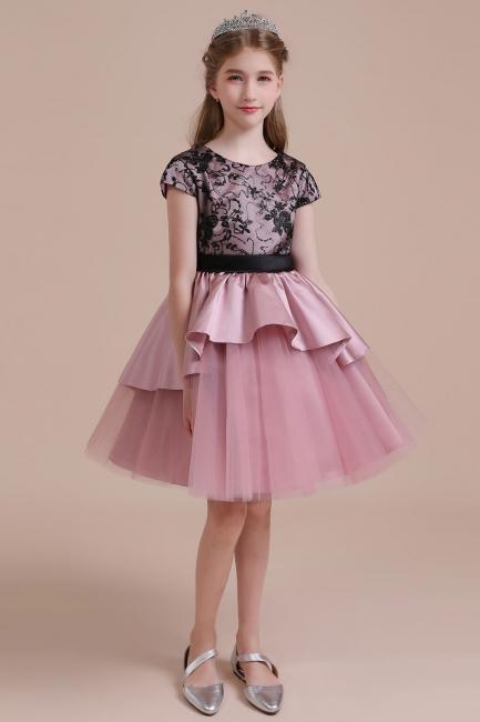 Blumenmädchen Kleid Spitze Rosa | Blumenmädchenkleider für Kinder