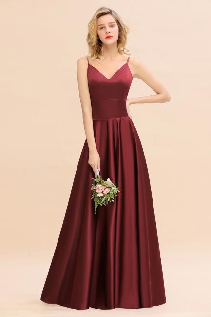 Schöne Brautjungfernkleider Lang Rot   Brautjungfernkleid Günstig