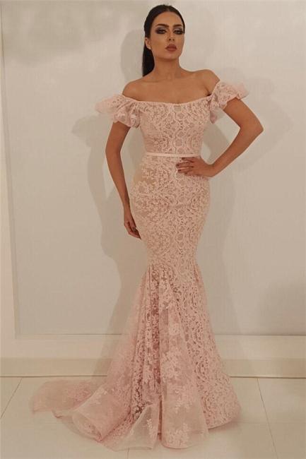 Beautiful evening dresses long pink | Lace prom dresses