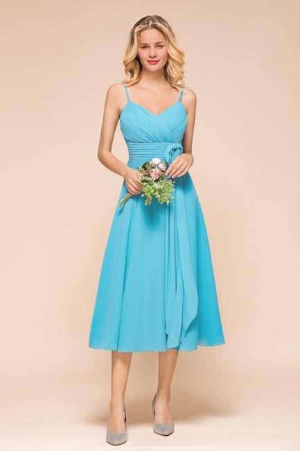 Blaue Brautjungfernkleider Kurz | Günstige Hochzeitspartykleider Online
