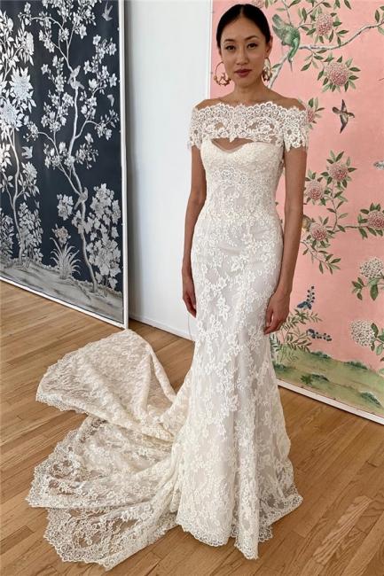 Elegante Brautkleider Meerjungfrau | Spitze Hochzeitskleider Online Kaufen